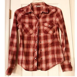 Roxy red flannel button up